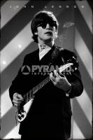 Poster Musica John Lennon Bianco e Nero Chitarra