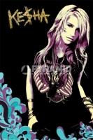 Poster Musica Kesha Maglia Harley Davidson