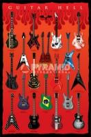 Poster Musica L'Inferno delle Chitarre Famose