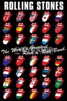 Poster Musica Rolling Stones Lingua di ogni Nazione