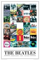 Poster Musica The Beatles Collage Copertine Album