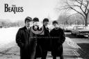 Poster Musica The Beatles in USA Casa Bianca e Neve Bianco e Ner