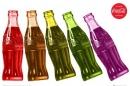 Poster Pubblicità Coca Cola Bottiglie Multicolor Vintage
