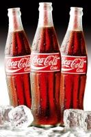 Poster Pubblicità Coca Cola Tris di Bottiglie Vintage