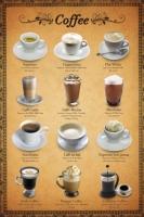 Poster Ricette dei Caffe' BAR Pub Birrerie Vintage