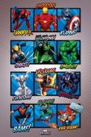 Poster Suoni Eroi Marvel Fantastici 4 Uomo Ragno Venom Wolverine