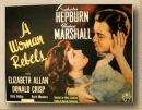 Poster Una donna si ribella (1936) Ristampa da collezione