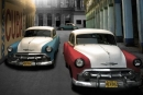 Poster Vintage Auto Macchine a Cuba