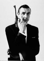 S. Connery James Bond pistola foto poster 20x25