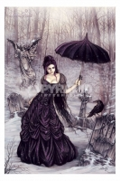 Victoria Frances Parasol Girl Poster Fantasy