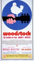 Woodstock - Locandina Poster Origin.33X70 Ed. Limitata