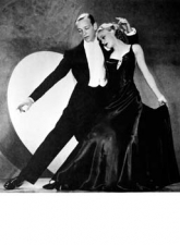 ginger rogers e fred astaire posa ballo foto poster 20x25
