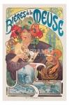 poster Arte Mucha Bieres De La Meuse stampa