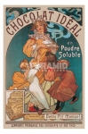 poster Arte Mucha Chocolat Ideal retro stampa