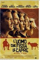 poster film L'uomo che fissa la capre  CINEMA 100X140